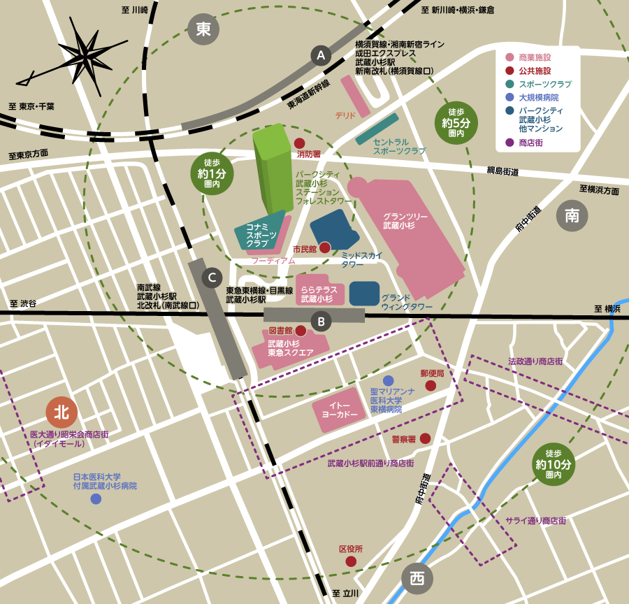 周辺地域マップ