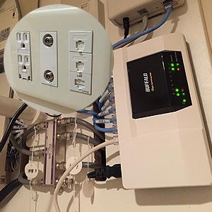 高速インターネット&各部屋LANポート